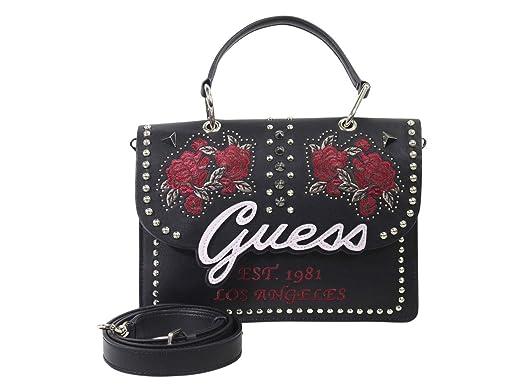 wholesale dealer f54ba 3fda1 GUESS In Love Top Handle Flap Black Multi: Amazon.co.uk ...
