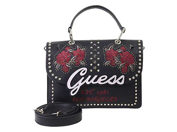 a58e1fb5c4 Guess BORSA A MANO/TRACOLLA MOD. IN LOVE 3 COMPARTI ECOPELLE NERO B19GU65:  Amazon.it: Scarpe e borse