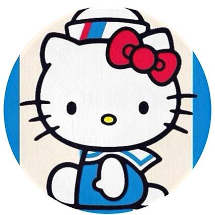 8c5f87b02 Amazon.com: Duwamesva Round Rug- Hello Kitty Sailor Art Deco Modern ...