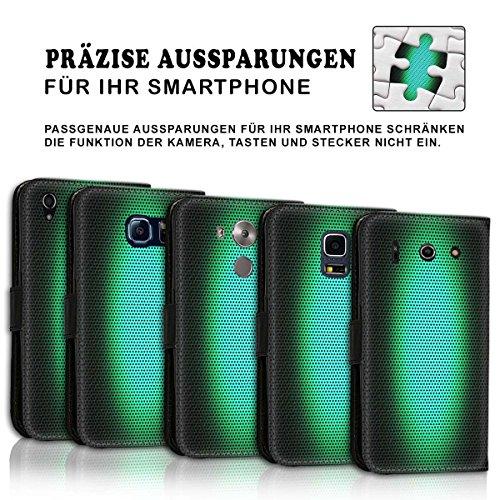 Wallet Book Style Flip Handy Tasche Case Schutz Hülle Schale Motiv Etui für Apple iPhone 5 / 5S - Design Flip MV154