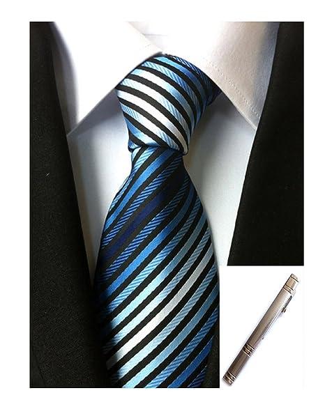 Amazon.com: Para hombre Azul y blanco Classic Solemne traje ...