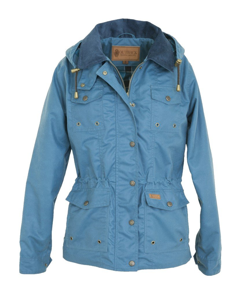 Outback Trading Jacket Womens Jill-A-Roo Snap Front L Teal 2184 by Outback Trading
