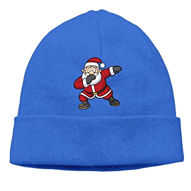 7f4224ae2c3 Image Unavailable. Image not available for. Color  Funny Dabbing Hip Hop Christmas  Santa Claus Adult Knit Cap Beanie Hat Unisex For Men Women