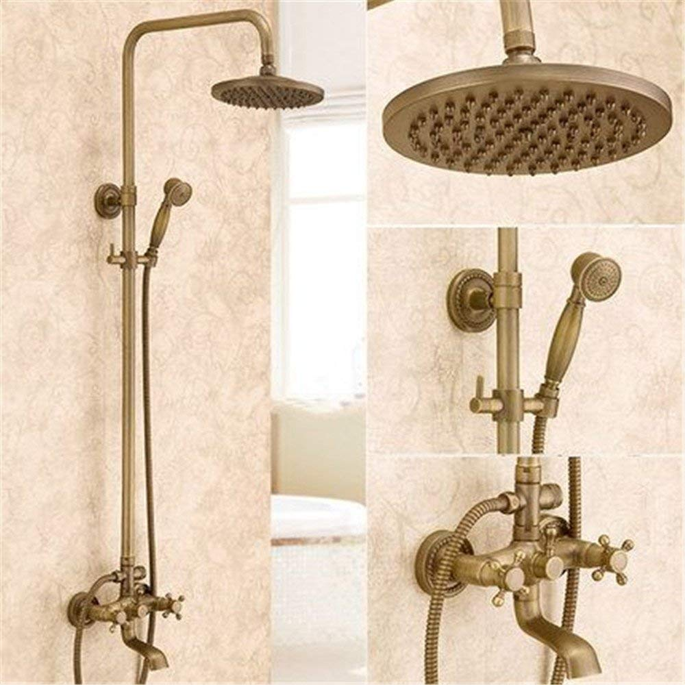 Ancient Glass Shower Wall Shower Faucet Shower Faucet Fully The Copper Lead-Free