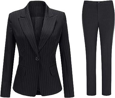 Amazon.com: Conjunto de traje de 2 piezas para mujer con ...