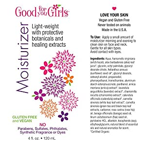 Good For You Girls Facial Moisturizer with Nourishing Vitamins, Antioxidants and Essential Fatty Acids to pamper skin, 4 oz by Good For You Girls