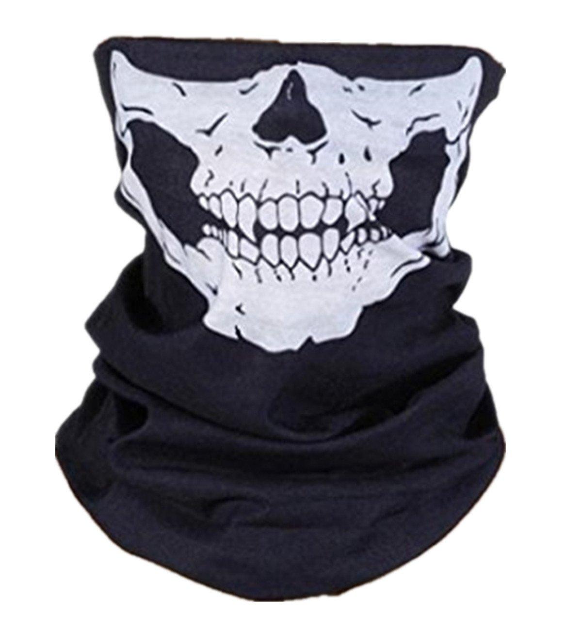 Sanlise 2014 NEU Sport Masken Skelett Gesichtsmaske Kopftuch Stirnband Fahrrad Motorrad Ski Kopfhaube Balaclava Schlitz schwarz Skull Totenkopf Maske Totenkopf Skull Face 2 (01) KT-SUPPLY WFM90