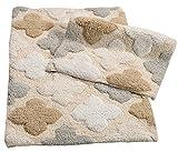 Chesapeake Merchandising Inc. 14450 Alloy Moroccan Tiles 2Piece Bath Rug Set - Spa