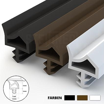 Steigner Guarnizione Per Porta Finestra Std06 10 M 12 Mm Marrone Guarnizione In Gomma Profilo Per Porte E Finestre In Legno Pvc Alluminio