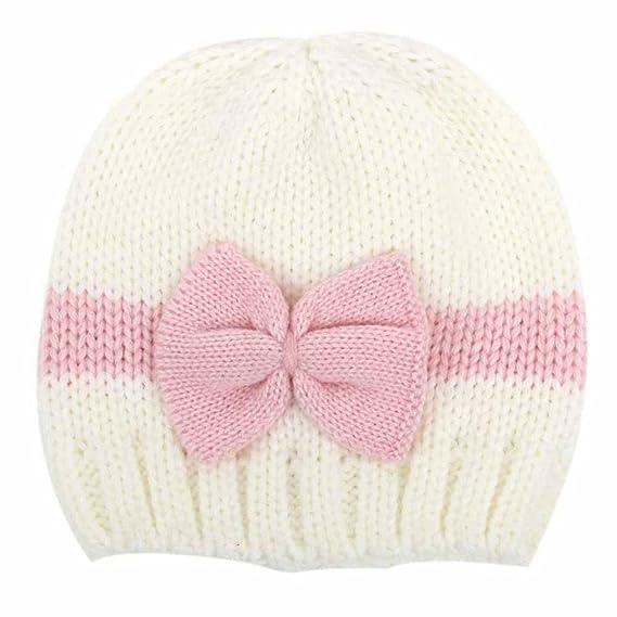 feiXIANG Cappello del bambino Bambino neonato ragazzo neonato maglieria lana  cappello cappello morbido berretto Crochet 2fb98f391be5