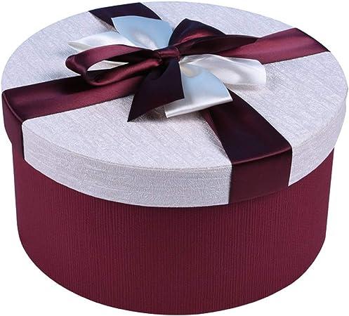 Caja de Regalo romántica Redonda con decoración de Lazo para el día de San Valentín Fiesta de cumpleaños de Navidad (Tamaño : Metro): Amazon.es: Hogar
