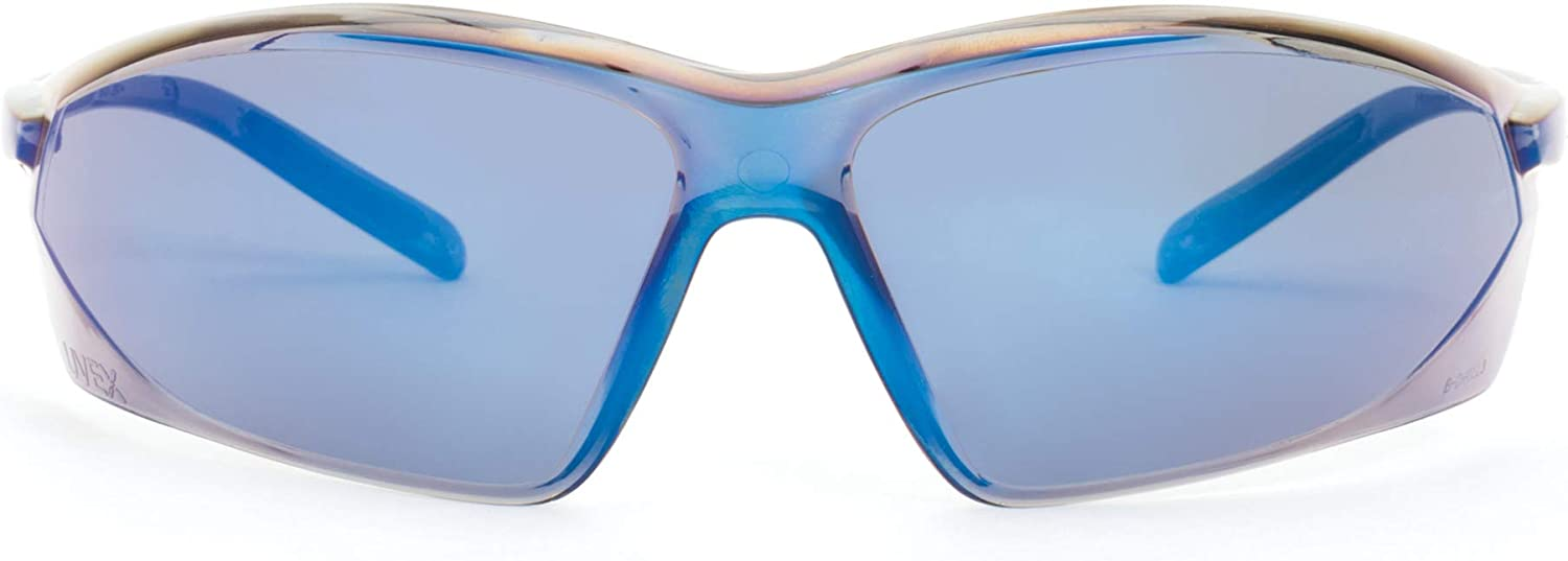 Honeywell A700 Series Lightweight Scratch-Resistant Tinted Safety Glasses, Blue Mirror Lens (RWS-51035)