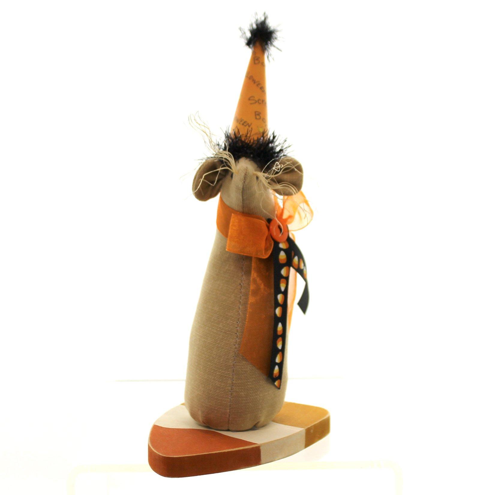 Halloween Candy Corn Mouse Fabric Fabric Wood JH85