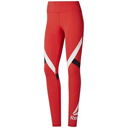 Reebok Wor Big Delta Tight Mallas, Mujer, canred, 2XS