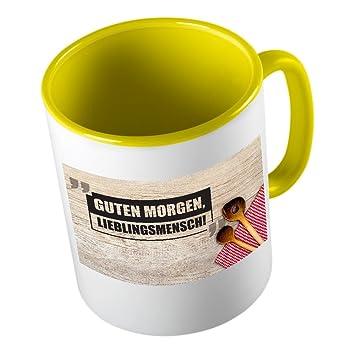 Guten Morgen Lieblingsmensch 2 Lustige Tasse