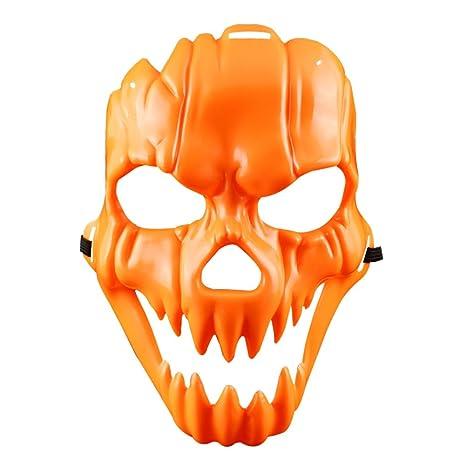 Yunhigh Máscara de Halloween Máscara de Calabaza Máscara de Calavera de Miedo Máscara de Mascarada de