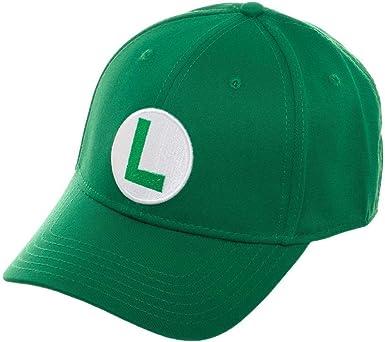 Luigi Super Mario Green Snapback Baseball Cap