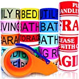 Moving Labels, 1 Clear Packing Tape, 2 Fragile Moving Stickers ~ 3X Bigger Than Competitors ~ Stay Organized & Save Time for Home Moves ~ Apply only on Moving Boxes