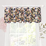 Brandream Window Curtain Valance for Baby/Toddler/Kid Bedroom Bath Laundry Living Room Decor, Rose Floral Pattern by