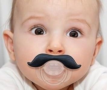 Amazon.com: Bebé Chupete Chupete con bigote de bigote: Baby