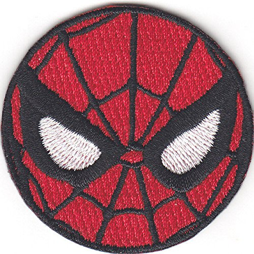 """SPIDERMAN"""" MASK(1 1/2"""")-Iron On Applique Patch/TV, Marvel Comics, Spidy Power"""