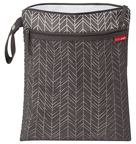 Skip Hop Grab-and-Go Wet-Dry Bag, Grey Feather