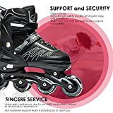 IUU Sports Adjustable Inline Skates for Kids and