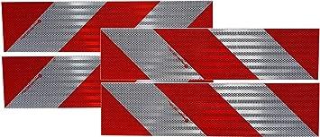 Fahrzeuge mit Sonderrechten Set 141mm x 2,1m links und rechts UvV Kfz Warnmarkierungsfolie 4,2 Meter Reflexfolie f/ür 2 Baustellen