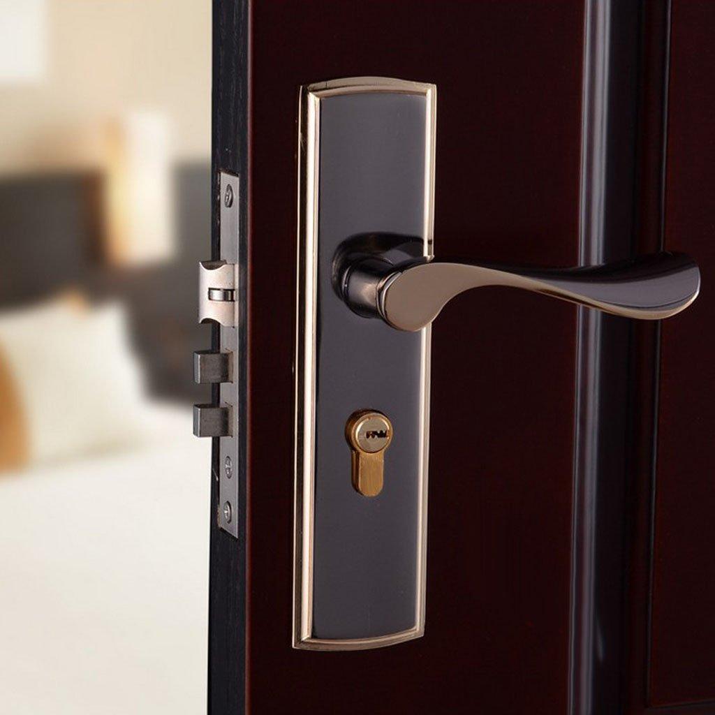 MagiDeal 3pcs Aluminum Alloy Door Handle Lock Home Entry Security Door Lockset for Bedroom Bathroom Latch 3 Keys by Unknown (Image #7)