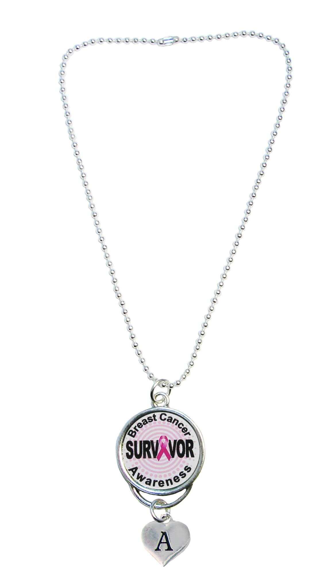 Custom Breast Cancer Awareness Survivor Rear View Mirror Car Choose Initial Jewelry