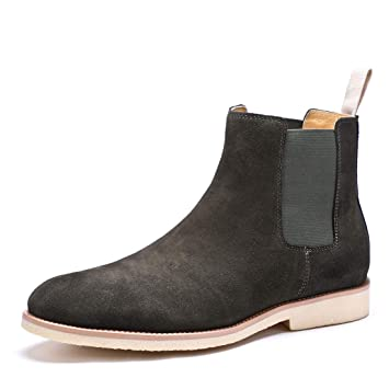 YAN Zapatos De Hombre De Gamuza Otoño & Invierno Martin Botas De Moda De Alta Top