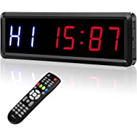 """Interval Timer Count Down/Up Clock, 1.5"""" 6 Digits LED Gym Timer Stopwatch with Remote for Home Gym Fitness Workouts"""