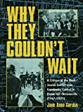 Why They Couldn't Wait, Jane Anna Gordon, 0415929091