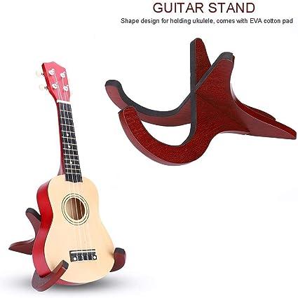 RiToEasysports Soporte para ukelele y guitarra, soporte de madera ...