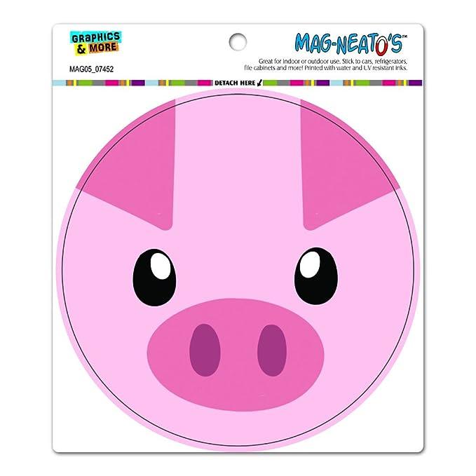 amazon com pig face close up farm animal circle mag neato s