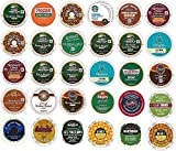 30 Count K cup DECAF ONLY Variety Sampler - TOP BRAND Decaf Flavors from Green Mountain, Dunkin Donuts, Folgers, Tully's, Caribou, and Many More
