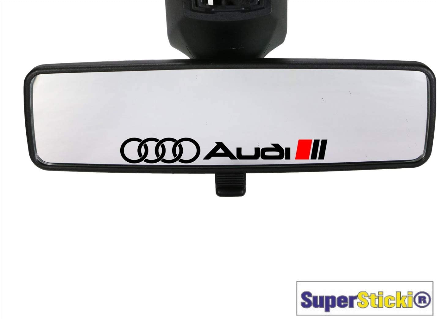 SUPERSTICKI 2 x Ringe kompatibel f/ür Audi Fahne R/ückspiegelaufkleber Rennsport Racing Tuning Decal Sticker Hobby Aufkleber Decal Sticker aus Hochleistungsfolie