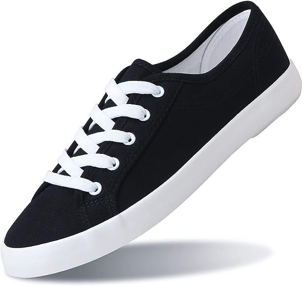 White Lace Up Canvas Shoes Cute
