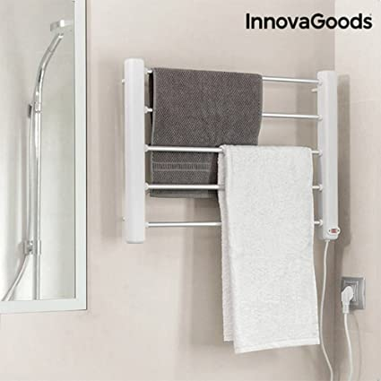 Práctico toallero eléctrico con montaje en suelo o de pared –Radiador de baño, calentador