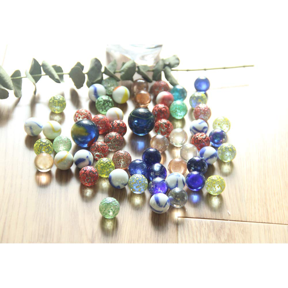 GreatTony Glass Marbles、16mm Marbles、25mm Marbles with net、お子様向けのベストギフト B07H2V8SQK
