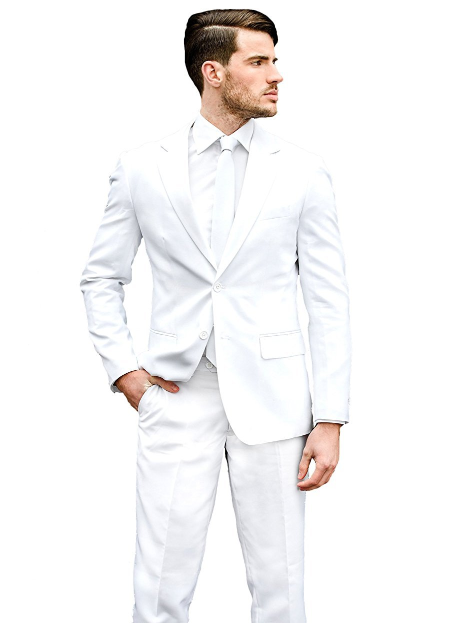 Opposuits Men's Knight-Party Costume Suit, White, 46