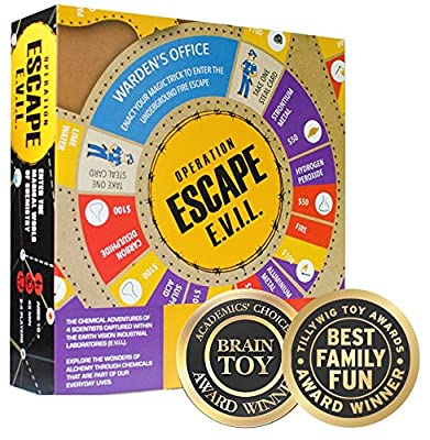 Kitki ESCAPE EVIL Fun Educational Board Games STEM Toys On SCIENCE For Kids 8-10 9-12 12-14 Years & Up. Chemistry Kit Gifts For Boys Girls & Teens.