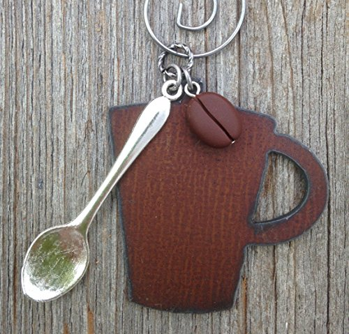 Handmade Coffee Ornament with Spoon and Bean for Christmas Beans Christmas Ornament