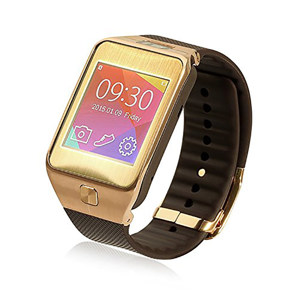 Amazon.com: Gold G2 Bluetooth Smart Watch with Silicone Band ...