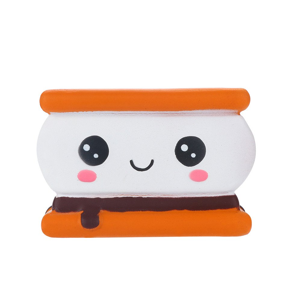 Fanyunhan Stress Reliever Scented Slow Rising Kids Toy Squeeze Toys Biscuit Collect Easter Gift