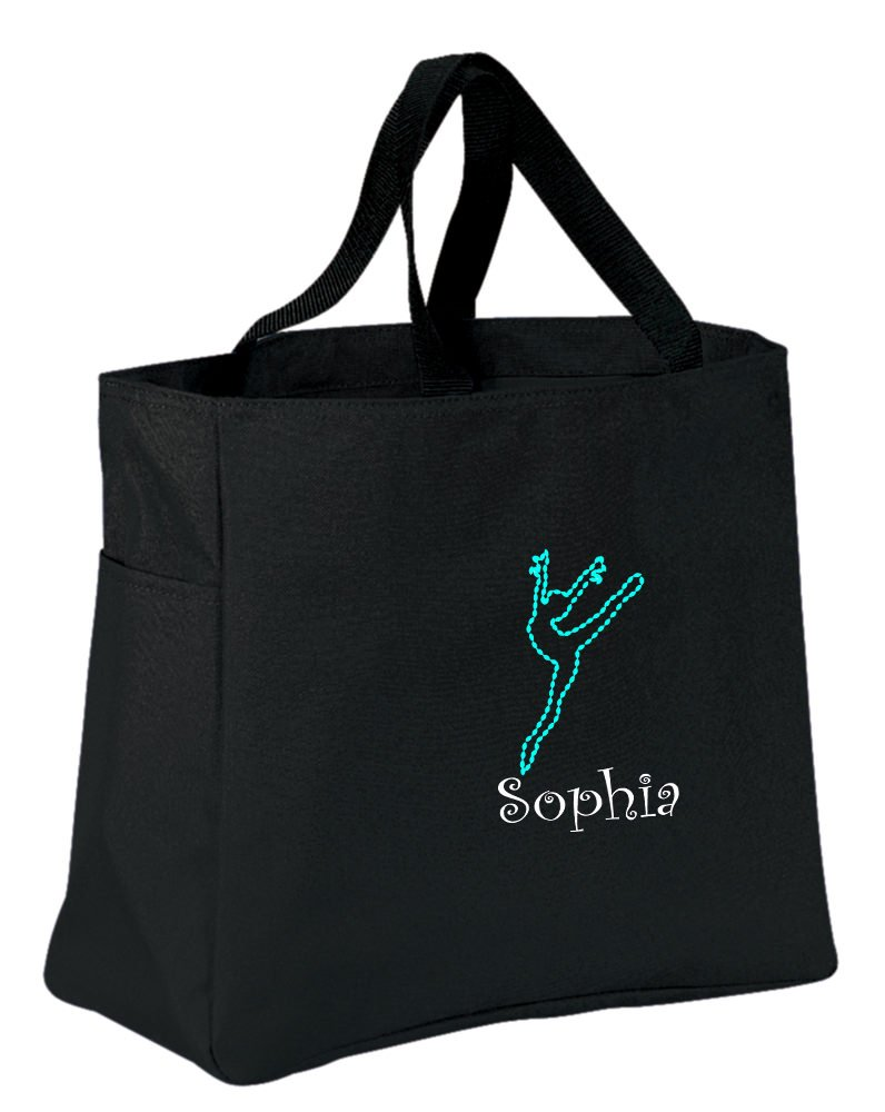 all about me company Personalized Embroidered Dance 2 Sport Essential Tote Bag (Black) by all about me company