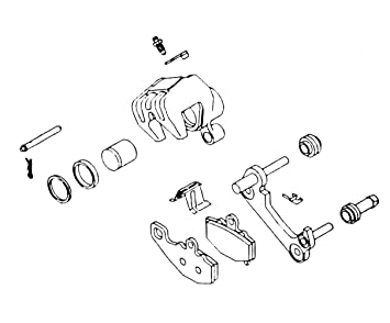 K&L Supply 77-81 Yamaha XS650: K&L ke Caliper Rebuild Kit (Front) on