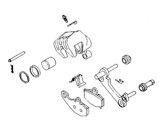 Amazon Com 02 16 Honda Crf450r Kl Brake Caliper Rebuild Kit