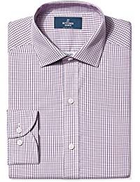 Men's Slim Fit Plaid Pattern Non-Iron Dress Shirt