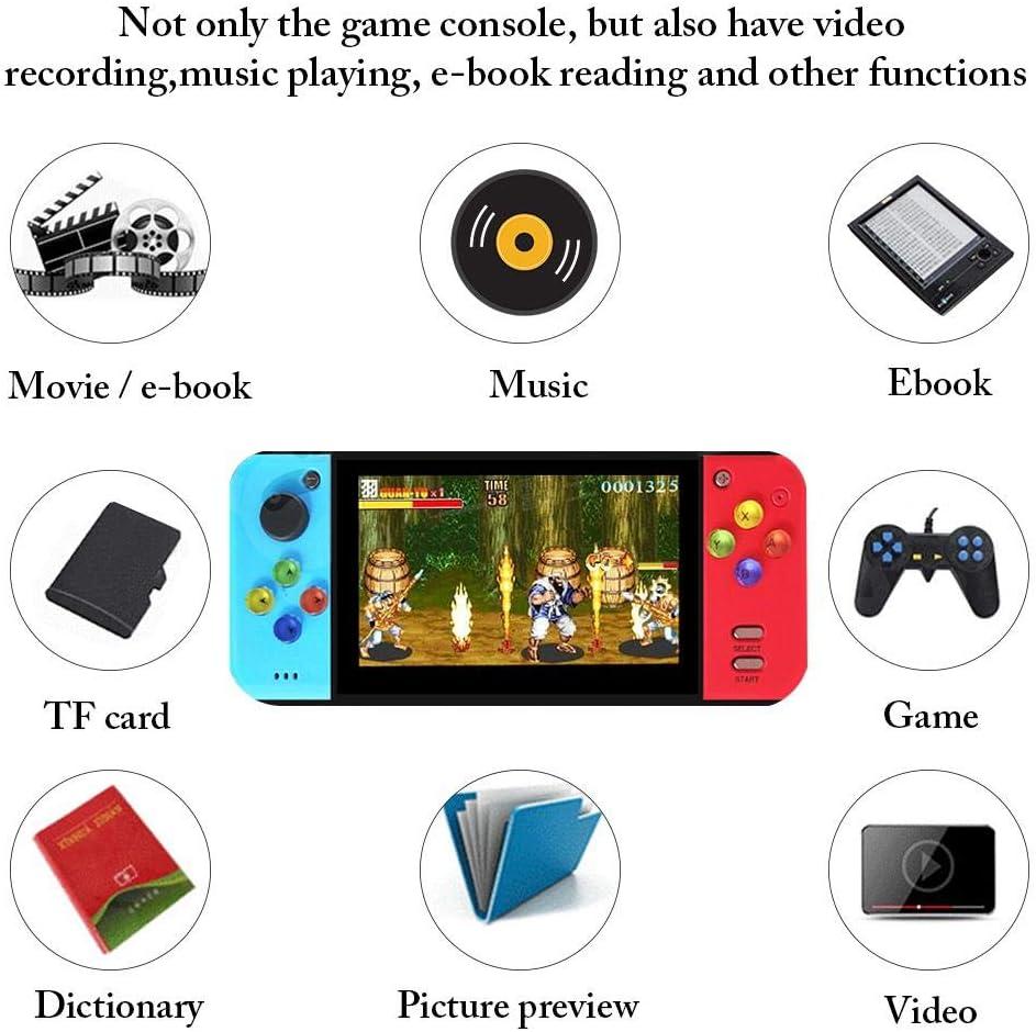 /Écran Couleur De 5,0 Pouces Mini Console De Jeu R/étro Ploufer Console De Jeu Portable /Écran Couleur X7 Arcade King of Fighters GBA FC NES Nostalgia attractively